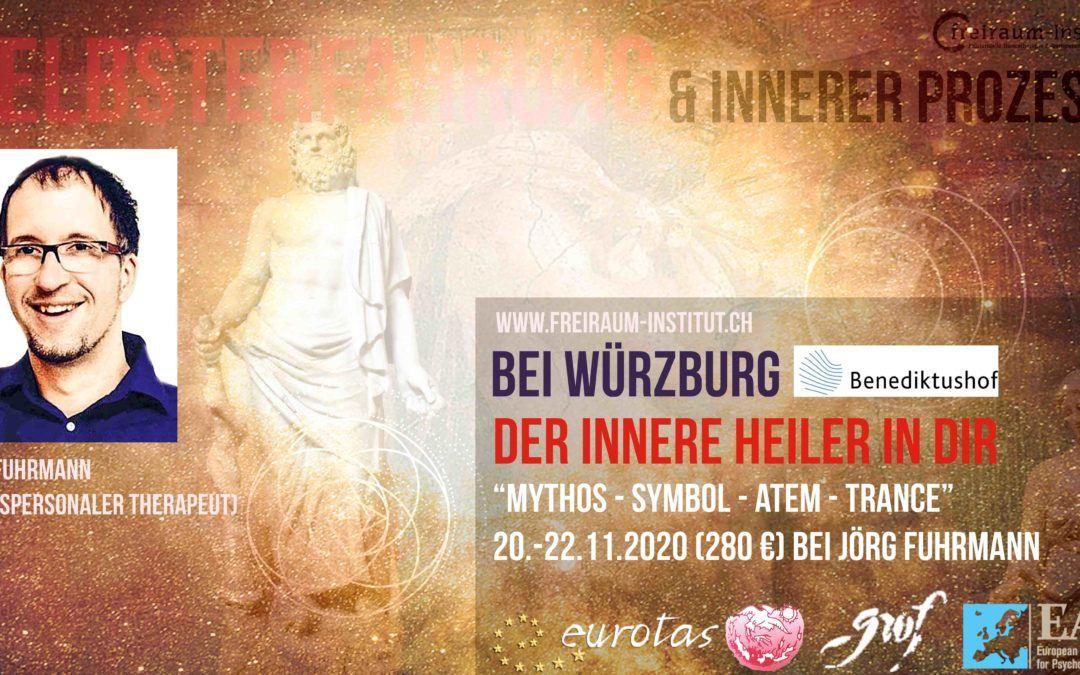 Der Innere Heiler in Dir – Mythos, Symbol, Atem, Trance – Prozessarbeit mit Jörg Fuhrmann, Benediktushof, 280€