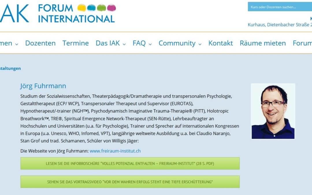 4 Tage Hypnosetraining-Kompakt IAK-Freiburg bei mit Jörg Fuhrmann 848€