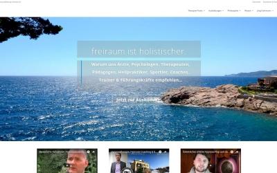Neue Homepage des freiraum-Instituts für humanistisch-tranpsersonale Psychologie, Hypnose- & Trancetherapie