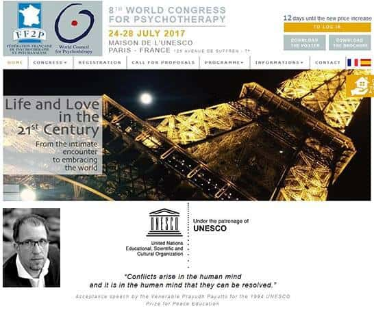 Psychotherapy-Worldcongress (WCP) at UNESCO-Paris with Jörg Fuhrmann speaking