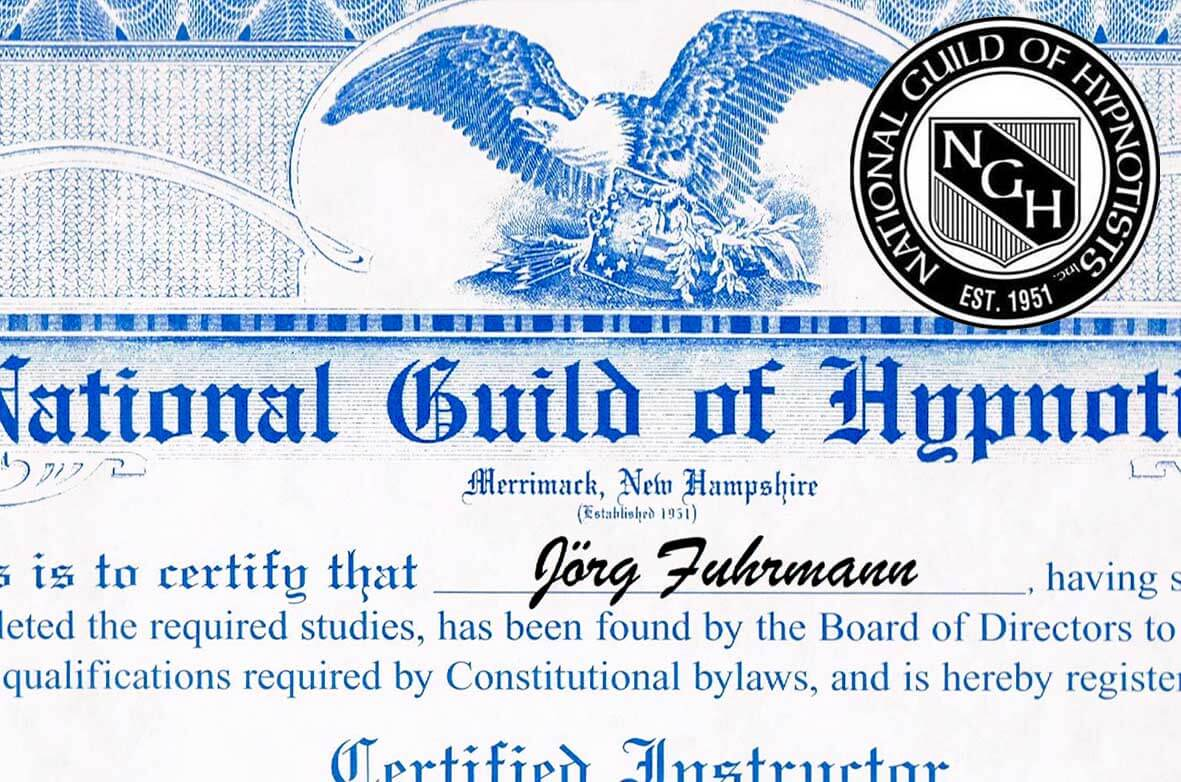 Hypnoseausbildung mit internationalem Zertifikat des weltweit größten Dachverbandes